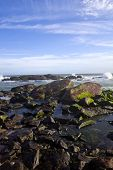 stock photo of kanyakumari  - Rocks in the sea - JPG