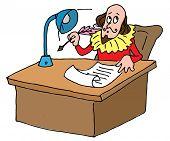 picture of william shakespeare  - Illustrative representation of Shakespeare - JPG
