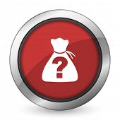 image of riddles  - riddle red icon   - JPG