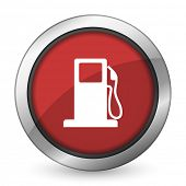 stock photo of petrol  - petrol red icon gas station sign  - JPG
