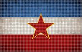 foto of yugoslavia  - Flag of the Yugoslav stat, Yugoslavia grunge mosaic flag - JPG