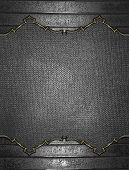 picture of nameplates  - Abstract grunge iron texture with metal nameplate - JPG