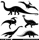 image of apatosaurus  - Different types of prehistoric dinosaur icons - JPG