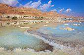 pic of sea salt  - Israeli coast of the Dead Sea - JPG