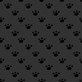 picture of animal footprint  - Animal footprint seamless dark pattern - JPG