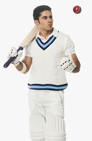 picture of cricket shots  - Cricket batsman holding a bat and looking at a ball - JPG