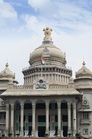 picture of vidhana soudha  - Low angle view of a government building - JPG