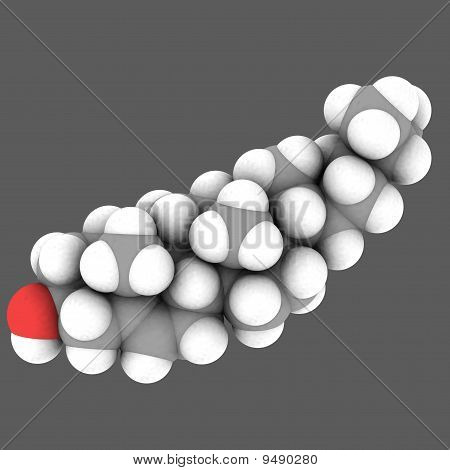 Molecular Structure Of Cholesterol On White