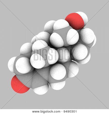 Testosterone Molecular Structure