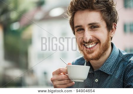 Funny Guy With Milk Moustache