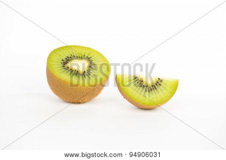 Kiwi Fruit On White