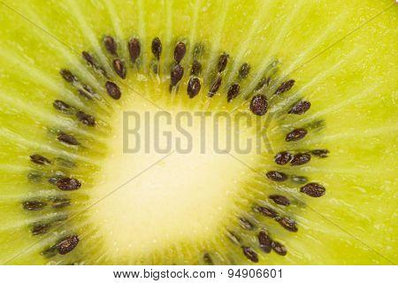 Closed Up Sliced Kiwi Fruit