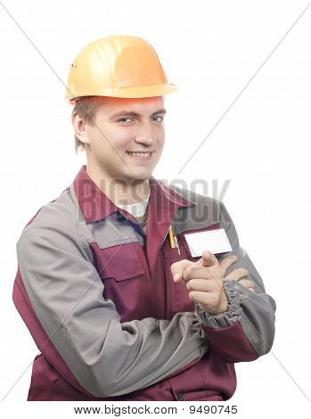 Builder With Blank Name Tag