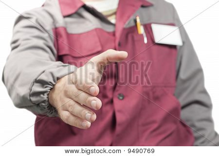 Worker Giving A Hand