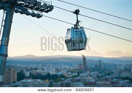 Funicular In Tbilisi, Georgia