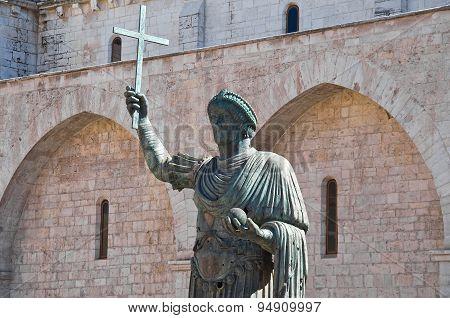 Bronze statue. Barletta. Puglia. Italy.