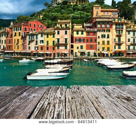 Portofino village on Ligurian coast in Italy