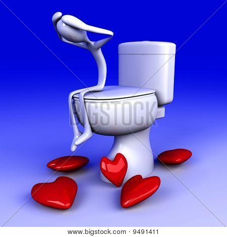 Mal de amores en el baño