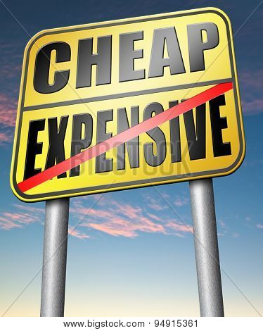 expensive versus cheap compare prices best value low price for best value and top quality or on a budget