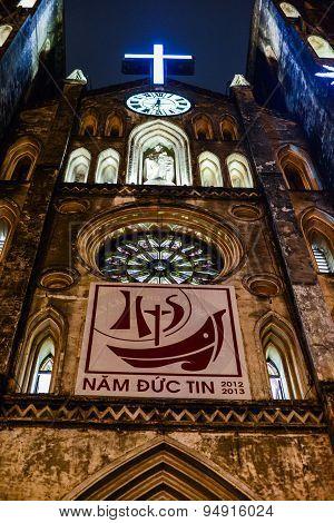 Gothic Church of XIX century in Vietnamese City
