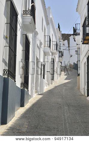 Cobblestone Street In White Town
