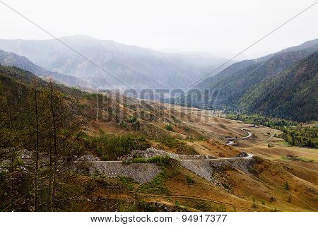 Pass In The Altai Mountains
