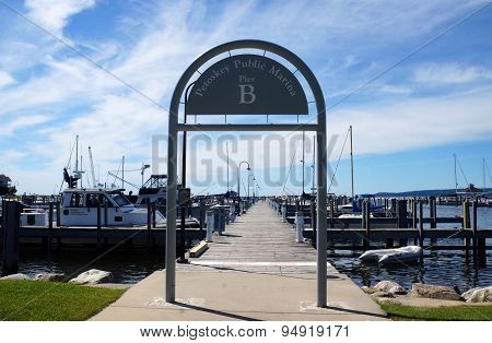 Pier B at the Petoskey Public Marina