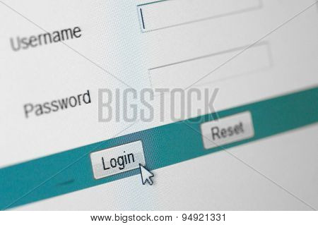 Website Login Screen