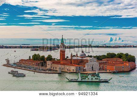 San Giorgio Maggiore island to Venice, Italy
