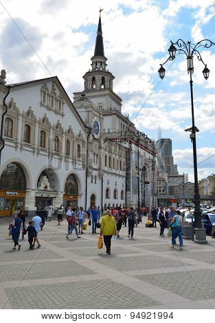 Moscow, Russia - 17.06.2015.  Kazansky Railway Station. Built In 1862.