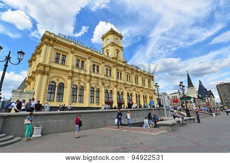 Moscow, Russia - 17.06.2015. Leningradsky Railway Station. Built In 1849