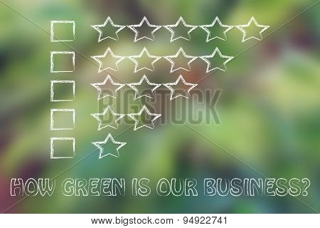How Green Is Our Business? Feedback Chart