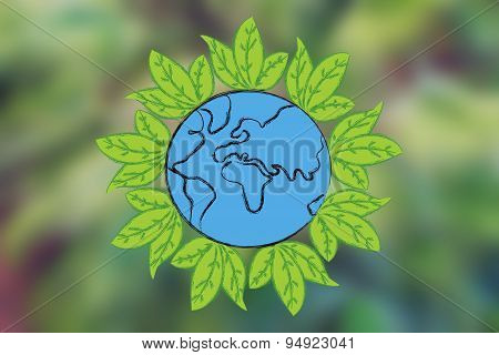 Earth Surrounded By Leaves