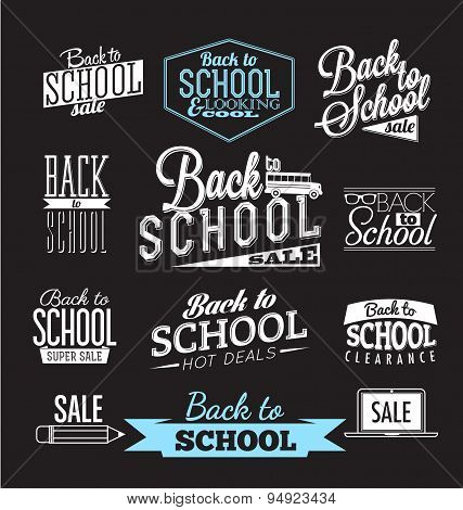 Back to School Calligraphic Designs | Retro Style Elements | Vintage Ornaments | Sale, Clearance | V