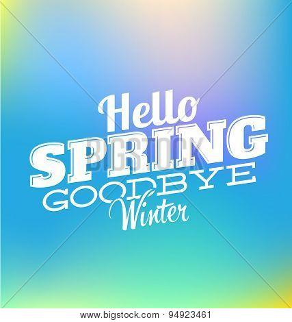 Hello Spring.Vector illustration