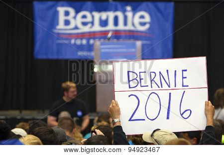 Bernie Sanders Rally Sign