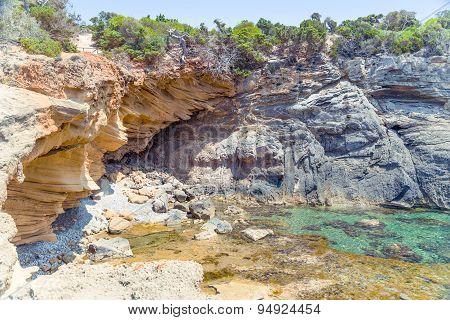 Grotto on Rocky Beach
