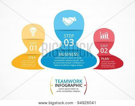 Vector social infographic. Template for diagram, graph, presentation, chart. Business teamwork conce