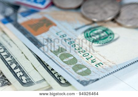 American money dollar bills closeup