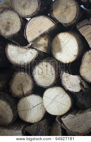 Chopped Firewood For House Fireplace