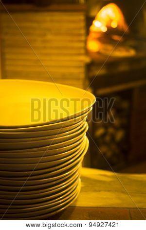 Italian Pizzeria Pizza Restaurant Oven Plates