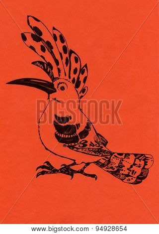 Hoopoe orange
