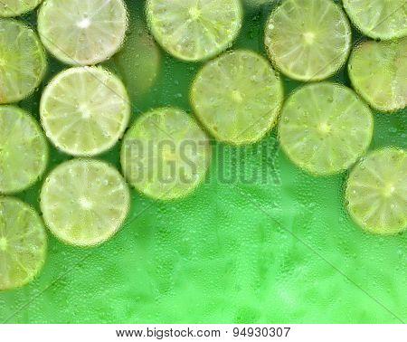 Fresh Lemonade With Green Limes