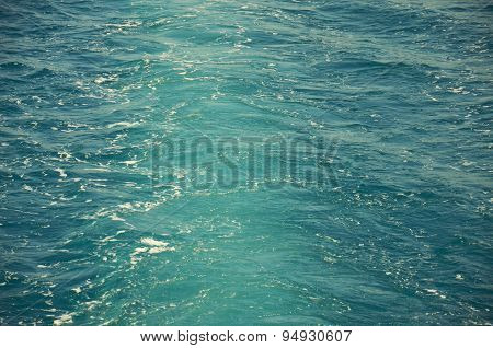 Blue sea waves and surface water background