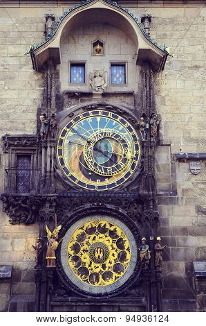 Astronomical Clock In The Hictorical City Center.