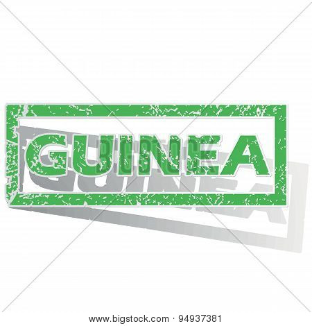 Green outlined Guinea stamp