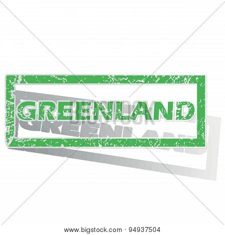 Green outlined Greenland stamp