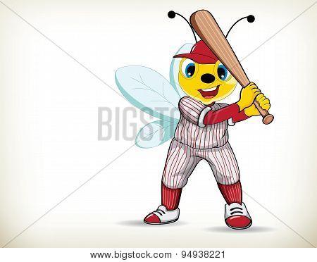 Baseball Player-bee