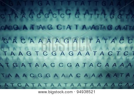 Abstract image with letters and chars, information data concept