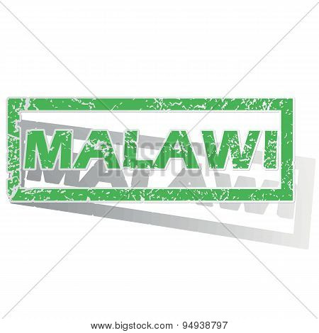 Green outlined Malawi stamp